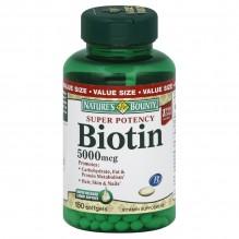 N/B #29619 BIOTIN 5000 MCG 150S