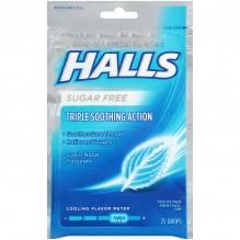HALLS SUG/FREE 25'S 12/BX MENTH