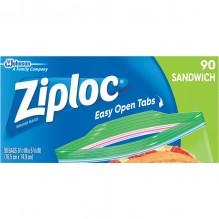 ZIPLOCK SANDWICH BAGS 90 CT