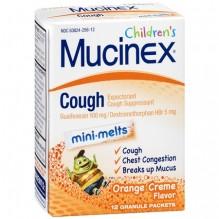 MUCINEX CHLD/CGH M/MELT ORG 12S