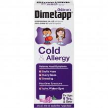 DIMETAPP CHILDS 4 OZ CLD/ALLGY
