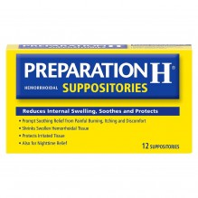 PREPARATION H SUPPOS 12'S