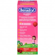 BENADRYL CHILD LIQ CHERRY 4 OZ