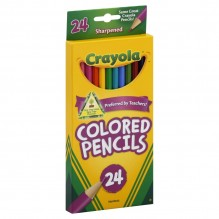 CRAYOLA COLOR PENCIL LONG 24 CT