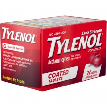 TYLENOL COATED TABLETS 24CT