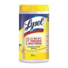 LYSOL WIPES LEMON/LIME 80-CT