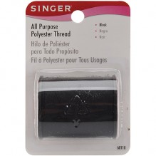 SINGER S THREAD BLACK 150 YD.