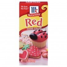 MCCORMICK FOOD COLOR RED 1 OZ