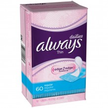 ALWAYS PNTY LINER THIN REG 60CT