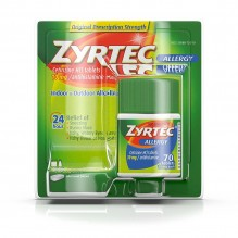 ZYRTEC 10MG TABS 70CT 24HR
