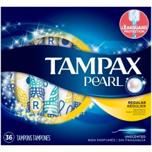 TAMPAX PEARL 36CT REG UNSCNT