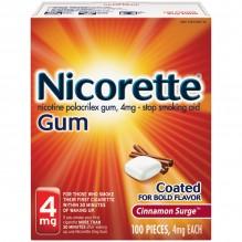 NICORETTE GUM 4MG 100 CT CINN