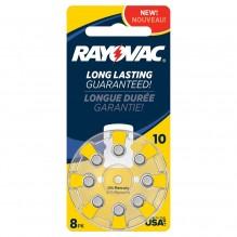 RAYOVAC HEAR AID #10 8PK