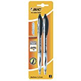 BIC ATLANTIS MED POINT 2PK BLCK