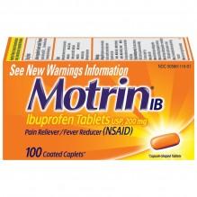 MOTRIN IB 200MG CAPLETS 100'S