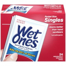WET ONES SINGLES 24CT ANTI BACT