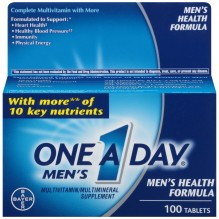 ONE A DAY MEN HLTH FORMLA 100CT