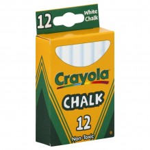 CRAYOLA CHALK STICKS WHITE 12