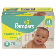 PAMPERS SWADDLER SZE 3 SUP 78CT