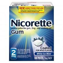 NICORETTE GUM 2MG 100CT WHT ICE