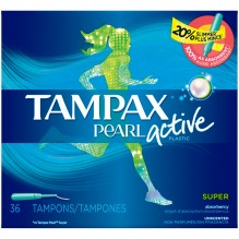 TAMPAX PEARL 36CT ACTIVE SUPER