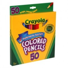 CRAYOLA COLORED PENCILS 50 CT
