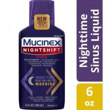MUCINEX NIGHTSHFT SINUS LIQ 6Z