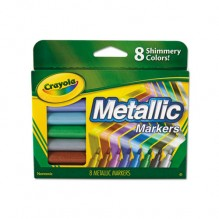 CRAYOLA METALLIC MARKERS 8CT