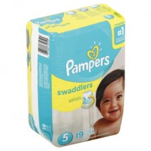 PAMPERS SWADDLER SZE 5 JMB 19CT