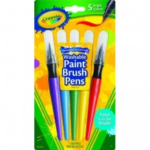 CRAYOLA NO-DRIP PAINT 5CT PEN